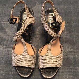 Black and Tan heels